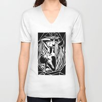boxing V-neck T-shirts featuring boxing by natalie shaul