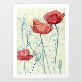 Floating Lillies  Art Print
