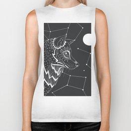 Wolf constellations Biker Tank