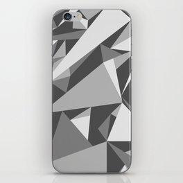 Black and White Triangle iPhone Skin
