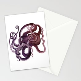 The Purple Octopus - Vintage Ocean Monster Stationery Cards