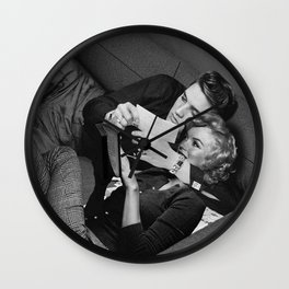Elvis and Marilyn Wall Clock