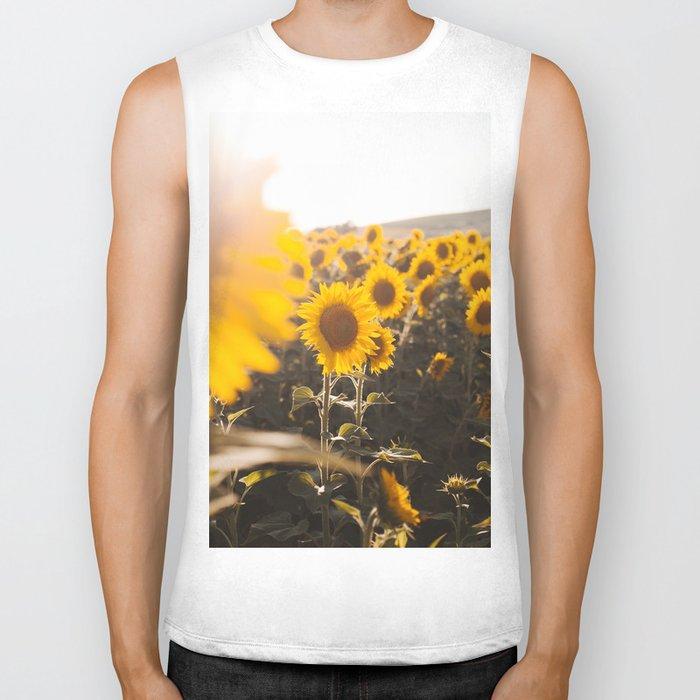 Sunflower's Season (III) Biker Tank