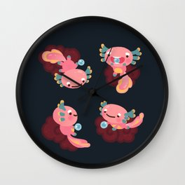 Umpearl the Axolotl Wall Clock