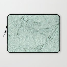 very thick painted, soft aqua Laptop Sleeve