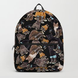 Tough Cats on Black Backpack
