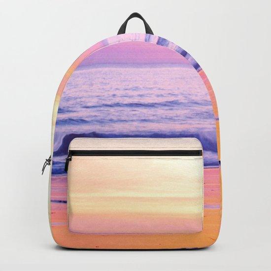 Pink Sunset Beach Backpack