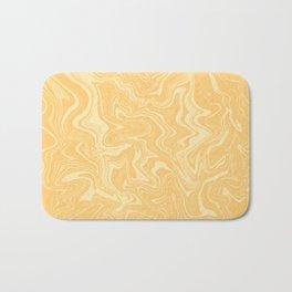 Yellow Liquid Marble Bath Mat