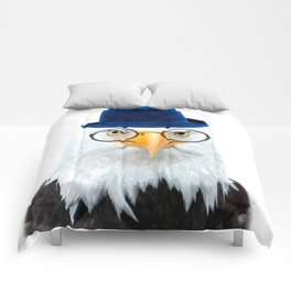 Funny Eagle Portrait Comforters