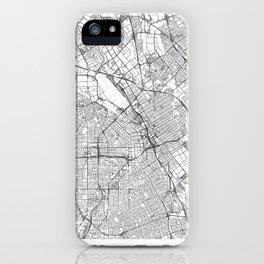 San Jose Map Line iPhone Case