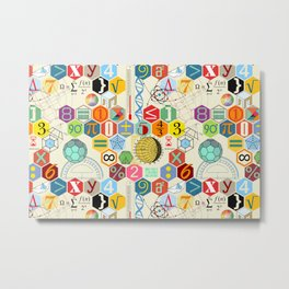 Math in color (little) Metal Print