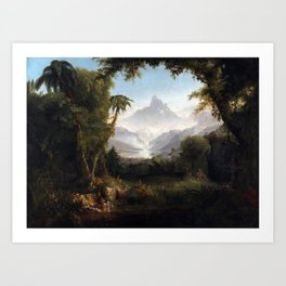 Thomas Cole The Garden of Eden Art Print