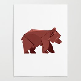 Origami Bear Poster