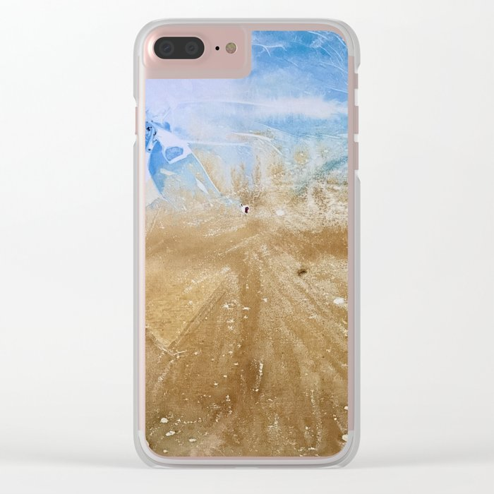 Take me to the beach, Leave me there alone Clear iPhone Case