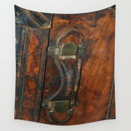 Steam-punk Vintage Steamer-trunk Handle Wall Tapestry