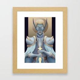 Authen, Commander of Paladins. Framed Art Print