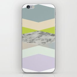 pastel loves marble geometry iPhone Skin