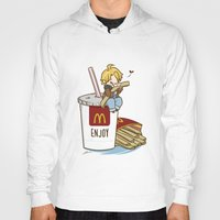 hetalia Hoodies featuring Hetalia - America Loves McDonalds  by BlacksSideshow