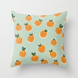 Tiny Clementines Throw Pillow
