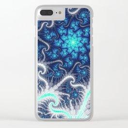 Winter Vortex Clear iPhone Case