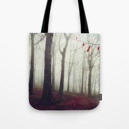 Forest in December Mist Tote Bag