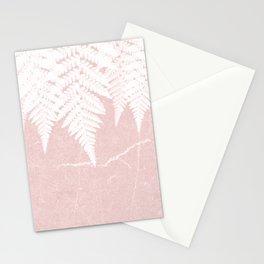 Fern fringe - pink concrete Stationery Cards