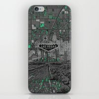 las vegas iPhone & iPod Skins featuring las vegas by Bekim ART