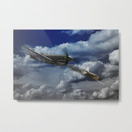 P40 Warhawk Pacific Battle Metal Print