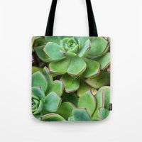 succulents Tote Bags featuring Succulents by Michelle McConnell
