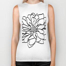 Flower (white) Biker Tank