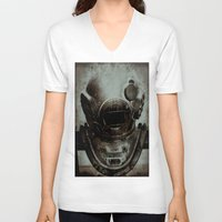 nemo V-neck T-shirts featuring Captain Nemo by Bella Blue Photography