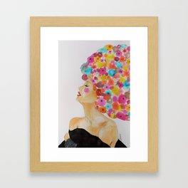 camelia in black Framed Art Print