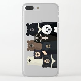 Bears of the world Clear iPhone Case