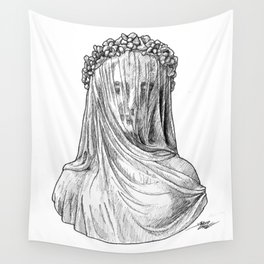 Veiled Lady Wall Tapestry