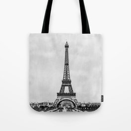 Eiffel tower, Paris France in black and white with painterly effect Tote Bag