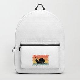 Vintage Snail Gift Idea Backpack