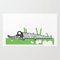 crocodile Area & Throw Rugs featuring Crocodile by Josè Sala