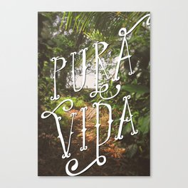 Pura Vida Costa Rica Jungle Life Caribbean Type Canvas Print