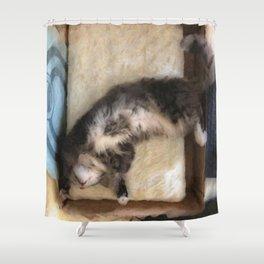 Free Fall Kitty Shower Curtain