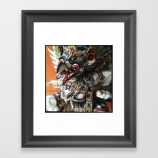Balinese God Statue Framed Art Print