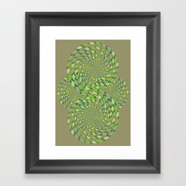 green storm Framed Art Print