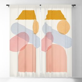 Abstraction_Home_Sweet_Home Blackout Curtain