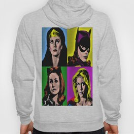 Retro Superheroine Pop Art Hoody