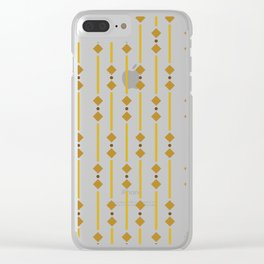 geometric design bown rhombuses Clear iPhone Case