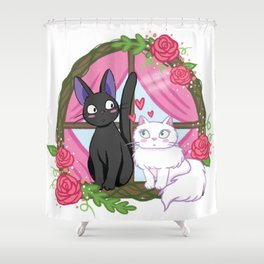 Jiji and Lily Shower Curtain