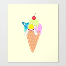 Space Odyssey Ice Cream | Astronaut Ice Cream | Space Ice Cream | Galaxy Ice Cream | pulps of wood Canvas Print