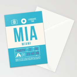 Baggage Tag B - MIA Miami USA Stationery Cards