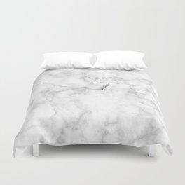 Marble pattern on white background Duvet Cover