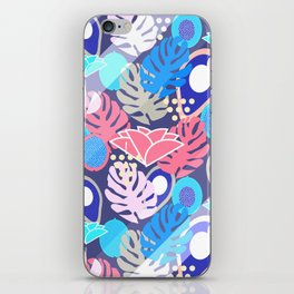 Tropical in blue light iPhone Skin
