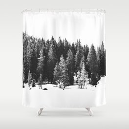 Black and White Print, Wall Art, Black and White Art Shower Curtain